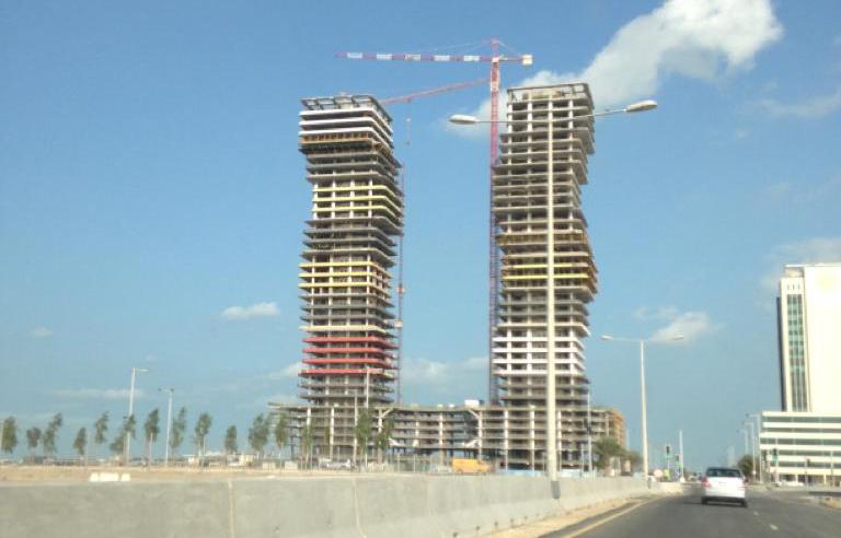 Obras en Lusail (Qatar)